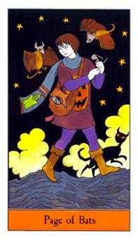 Page of Bats Tarot Card - Halloween Tarot Deck
