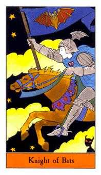 Knight of Bats Tarot Card - Halloween Tarot Deck