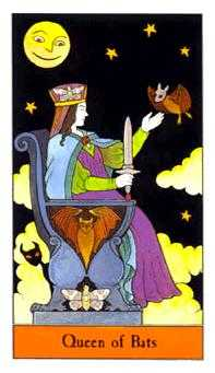 Reine of Swords Tarot Card - Halloween Tarot Deck