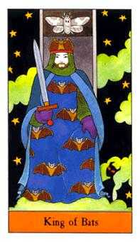 King of Bats Tarot Card - Halloween Tarot Deck
