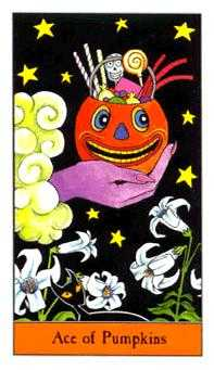 Ace of Pumpkins Tarot Card - Halloween Tarot Deck