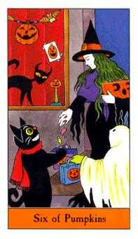 Six of Pumpkins Tarot Card - Halloween Tarot Deck