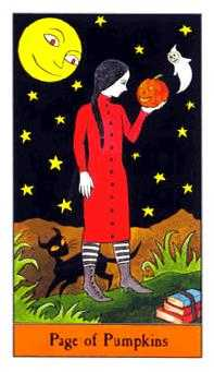 Page of Pumpkins Tarot Card - Halloween Tarot Deck