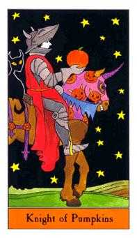Knight of Buffalo Tarot Card - Halloween Tarot Deck
