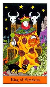 King of Coins Tarot Card - Halloween Tarot Deck