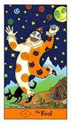 The Fool Tarot card in Halloween Tarot deck