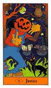 Justice Tarot card in Halloween Tarot deck
