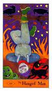 The Hanged Man Tarot card in Halloween Tarot deck