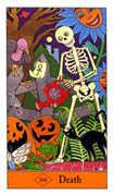 Death Tarot card in Halloween Tarot deck