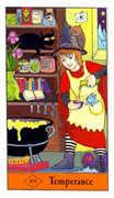 Temperance Tarot card in Halloween Tarot deck