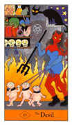The Devil Tarot card in Halloween Tarot deck