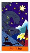 The Star Tarot card in Halloween Tarot deck