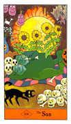 The Sun Tarot card in Halloween Tarot deck