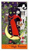 The High Priestess Tarot card in Halloween Tarot deck
