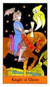 Knight of Ghosts Tarot card in Halloween Tarot deck