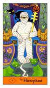 The Hierophant Tarot card in Halloween Tarot deck