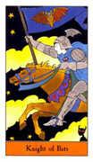 Knight of Bats Tarot card in Halloween Tarot deck