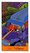 The Chariot Tarot card in Halloween Tarot deck