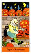 Eight of Pumpkins Tarot card in Halloween Tarot deck