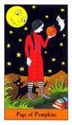 Page of Pumpkins Tarot card in Halloween Tarot deck