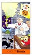 The Hermit Tarot card in Halloween Tarot deck