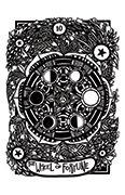 Wheel of Fortune Tarot card in Heart & Hands deck