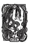 The Devil Tarot card in Heart & Hands deck