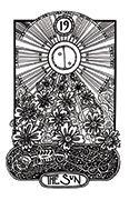 The Sun Tarot card in Heart & Hands deck