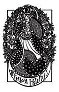The High Priestess Tarot card in Heart & Hands deck