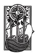 Three of Wands Tarot card in Heart & Hands deck