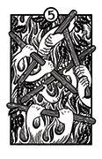 Five of Wands Tarot card in Heart & Hands deck