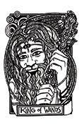 King of Wands Tarot card in Heart & Hands deck