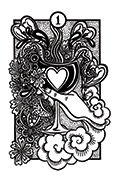 Ace of Cups Tarot card in Heart & Hands deck