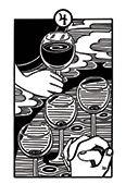 Four of Cups Tarot card in Heart & Hands deck