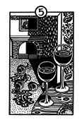 Five of Cups Tarot card in Heart & Hands deck