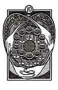 Ten of Cups Tarot card in Heart & Hands deck