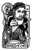 Page of Cups Tarot card in Heart & Hands deck