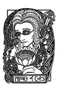Knight of Cups Tarot card in Heart & Hands deck