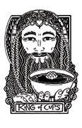 King of Cups Tarot card in Heart & Hands deck