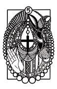 The Hierophant Tarot card in Heart & Hands deck