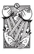 Five of Swords Tarot card in Heart & Hands deck