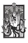 Eight of Swords Tarot card in Heart & Hands deck