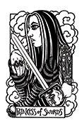 Page of Swords Tarot card in Heart & Hands deck