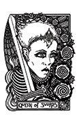 Queen of Swords Tarot card in Heart & Hands deck