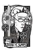 King of Swords Tarot card in Heart & Hands deck