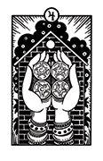 Four of Pentacles Tarot card in Heart & Hands deck