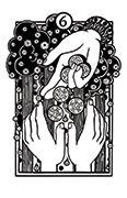 Six of Pentacles Tarot card in Heart & Hands deck
