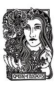 Queen of Pentacles Tarot card in Heart & Hands deck