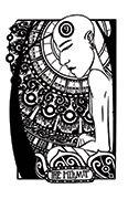 The Hermit Tarot card in Heart & Hands deck