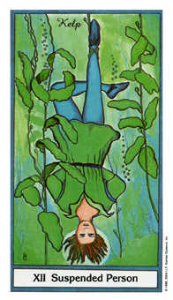 The Hanged Man Tarot Card - Herbal Tarot Deck